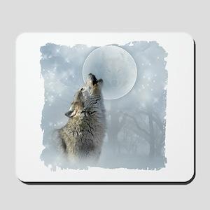 Wolf Blue Moon Mousepad