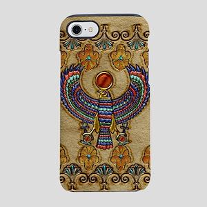 Harvest Moons Egyptian Hawk iPhone 7 Tough Case