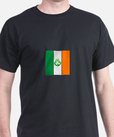 small irish flag flame T-Shirt