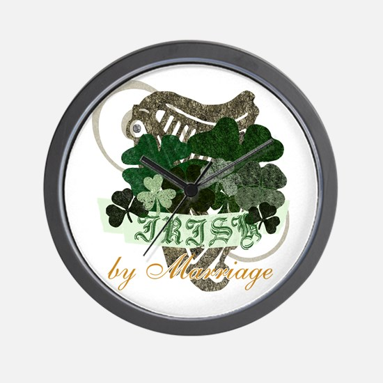 Irish by Marriage Wall Clock