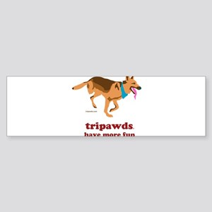 Tripawds Have More Fun Sticker (Bumper 10 pk)