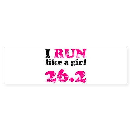 I Run Like a Girl 26.2 Sticker (Bumper)