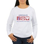 Airedale Terrier Lover Women's Long Sleeve T-Shirt