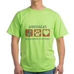 Airedale Terrier Lover Green T-Shirt