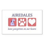 Airedale Terrier Lover Sticker (Rectangle)