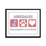 Airedale Terrier Lover Framed Panel Print