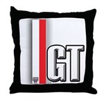 GT Red White Throw Pillow
