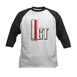 GT Red White Kids Baseball Jersey