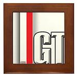 GT Red White Framed Tile