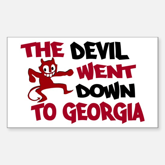 The Devil Went Down to Georgi Sticker (Rectangle)