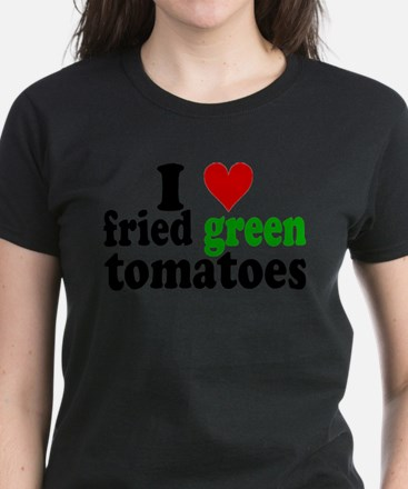 I Heart Fried Green Tomatoes Women's Dark T-Shirt