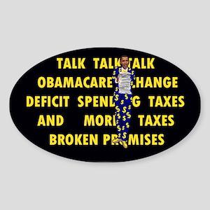 Obamacare_$$$! Sticker (Oval)