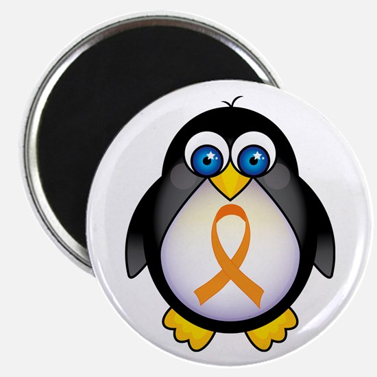 Penguin Orange Ribbon Awareness Magnet