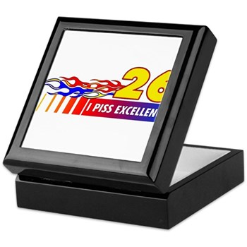 I Piss Excellence Keepsake Box
