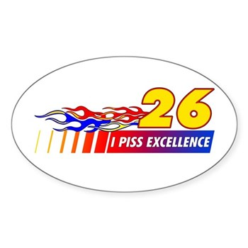 I Piss Excellence Sticker (Oval 10 pk)