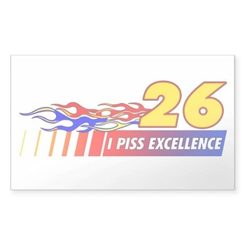 I Piss Excellence Sticker (Rectangle)