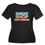 SWEATSHOP: SVU Women's Plus Size Scoop Neck Dark T