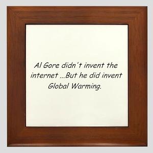 Al Gore Global Warming Framed Tile