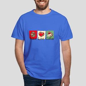 Peace. Love. Coffee Dark T-Shirt
