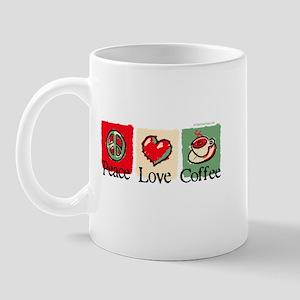 Peace. Love. Coffee Mug