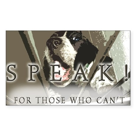 SPEAK! Sticker (Rectangle 10 pk)