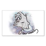 Seriously Sticker (Rectangle 50 pk)