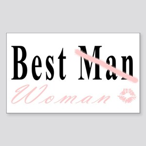 Best Woman Rectangle Sticker