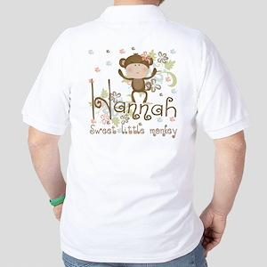 Lily Sweet lil monkey Golf Shirt
