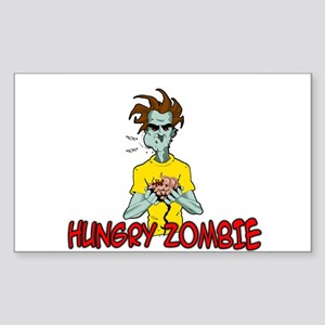 Hungry Zombie Sticker (Rectangle)