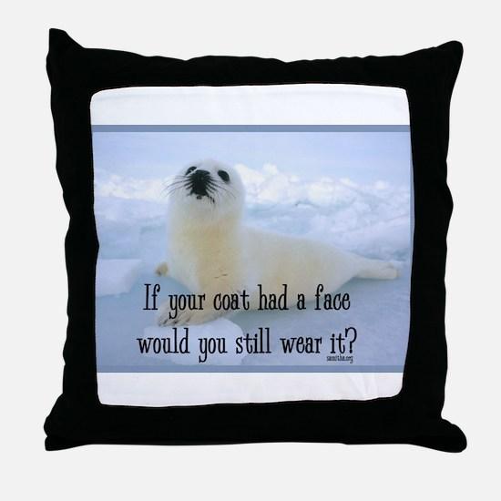 Seal Coat Throw Pillow