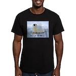 Seal Coat Men's Fitted T-Shirt (dark)