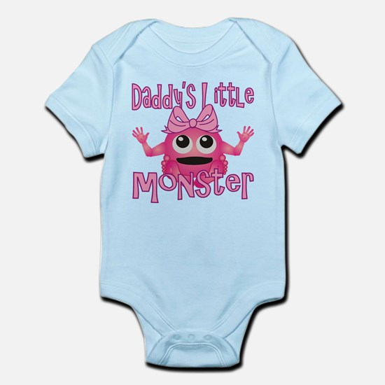 Girl Daddy's Little Monster Infant Bodysuit