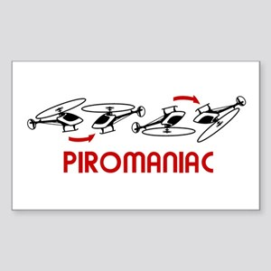 Piromaniac Sticker (Rectangle)