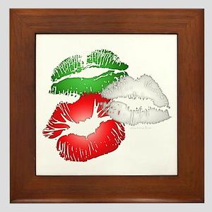 Italian Kissing Lips Framed Tile