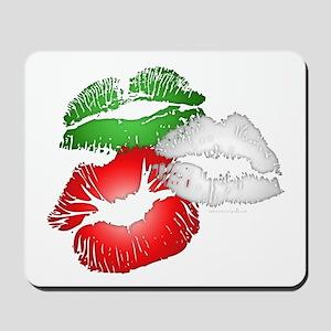 Italian Kissing Lips Mousepad