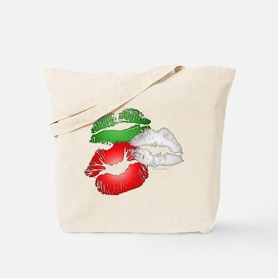 Italian Kissing Lips Tote Bag