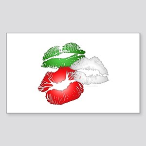 Italian Kissing Lips Sticker (Rectangle)