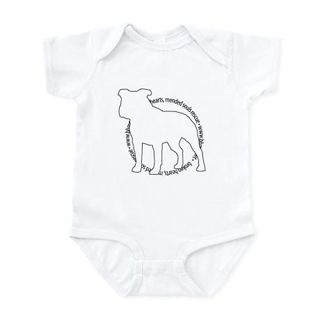 Staffy Outline (BK) - Infant Bodysuit