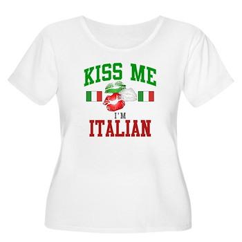 Kiss Me I'm Italian Women's Plus Size Scoop N
