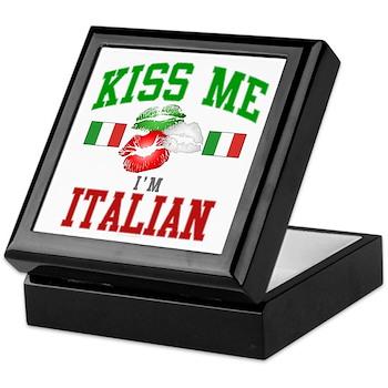 Kiss Me I'm Italian Keepsake Box