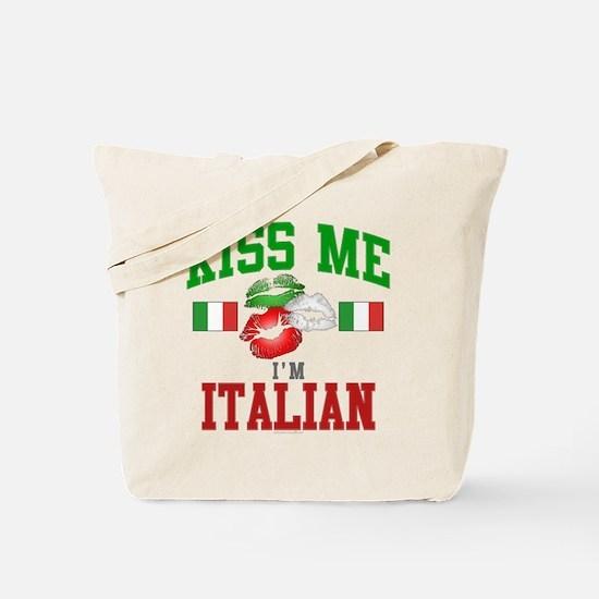 Kiss Me I'm Italian Tote Bag