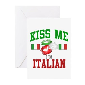 Kiss Me I'm Italian Greeting Cards (Pk of 20)