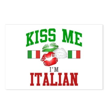 Kiss Me I'm Italian Postcards (Package of 8)