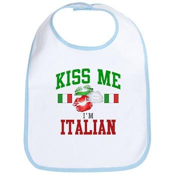 Kiss Me I'm Italian Bib