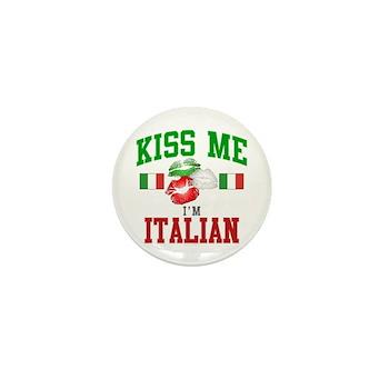 Kiss Me I'm Italian Mini Button (100 pack)