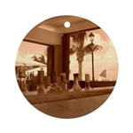 Beach Bar Ornament (Round)
