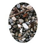 Beach Rocks Ornament (Oval)