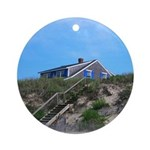 Cape Cod Beach House Ornament (Round)