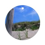 Cape Cod Beach Ornament (Round)
