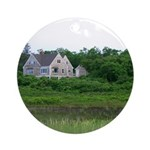 Cape Cod Seaside Home Ornament (Round)